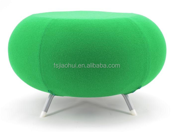 Fiberglass shell Allermuir Pebble Stool Short Sitting Stool