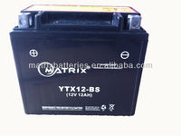 YTX12-BS 12v 12ah MF Motorcycle battery