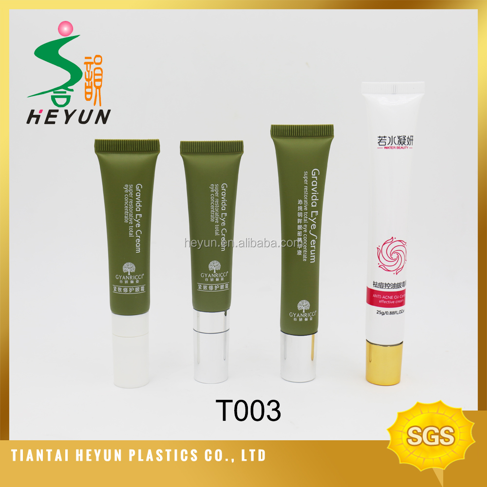 2016 new samll size eye cream massaging tube with 3 roller ball screen printing cosmetic tube packaging