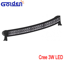180W Dual curve off road work 3w led light bar for trucks