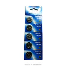 Hot seller 3V lithium button cell CR2016/ Eunicell brand
