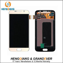 Alibaba express hot sale LCD display assembly with home button for samsung S6 G920