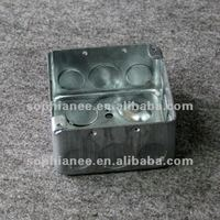 4 inch Electrical Conduit Steel Square Outlet Boxes