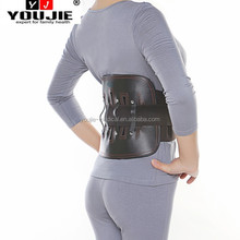 OEM physio therapy steel bone PU leather lower back fatigue relief back support brace with best price