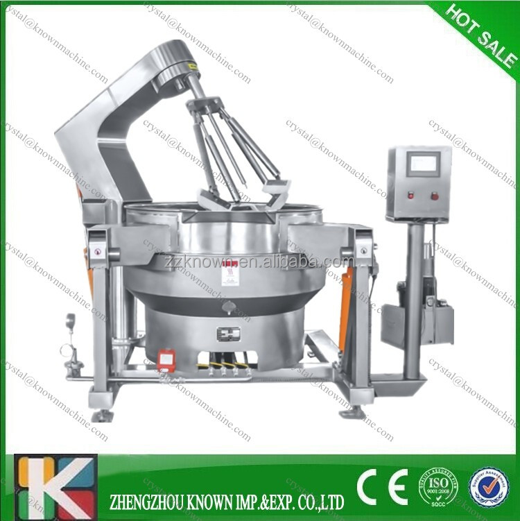 industrial 300L outdoor fixed jacket cooking kettle