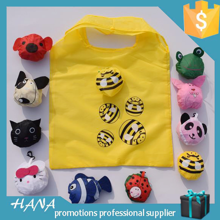 promotion OEM animal folding bag cheap nylon foldable shopping bag