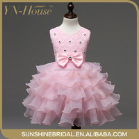 Hot Sale A Line White Color Ball Gown Net Flower Girl Dresses India Wholesale