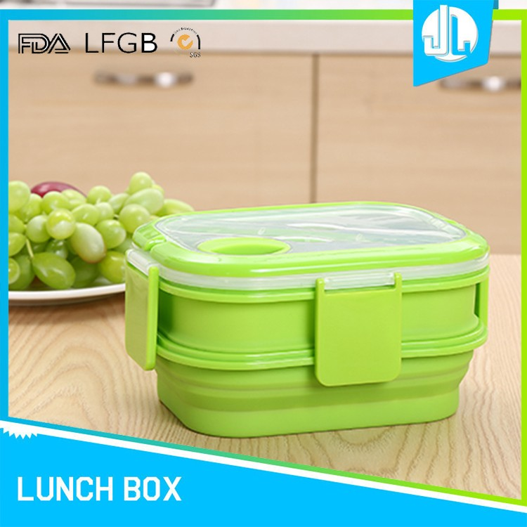 Latest design silicone blank tin lunch box with handle