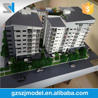 Professional cad solid maquette modeling with led light and landscape