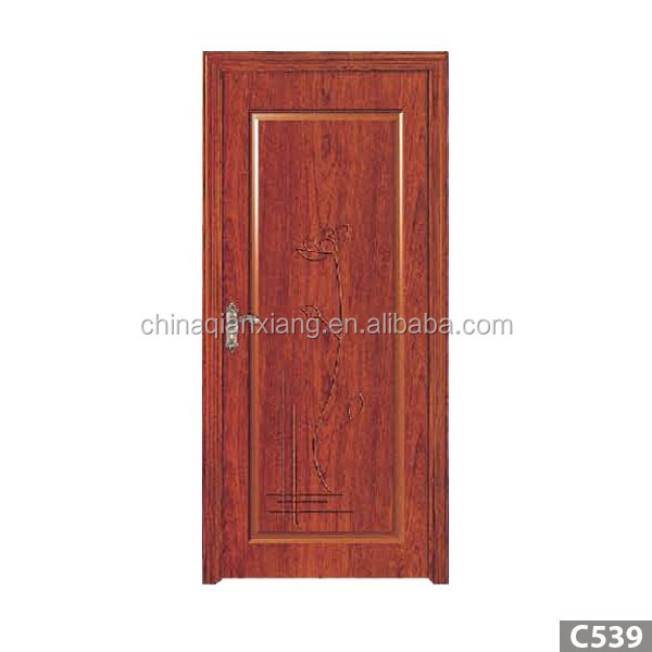 bedroom door design/PVC solid wood door price/MDF wood door