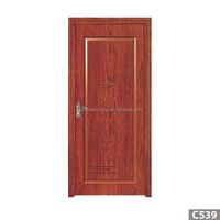 bedroom door design/PVC solid wood door price/MDF wood door