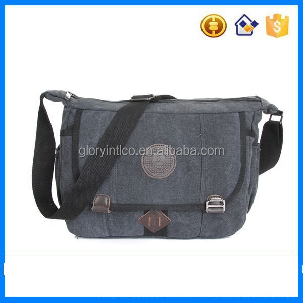 Sport small canvas bag custom vintage unisex messenger bag made in china
