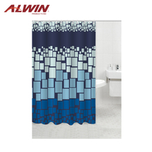 Durable fancy plaid luxury shower curtains 9040-2