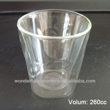 High Quality double wall heat resistant Glass Mug