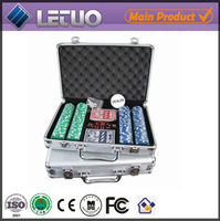 500 poker chip case aluminum case poker chip trolley case