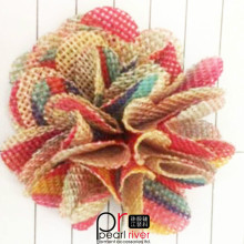 Fashion Colorful Handmade Chiffon Multilayer flowers for Dress Decoration