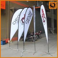 waterproof and weatherproof beach flag/custom feather flag safety flags for bicycles winding banner
