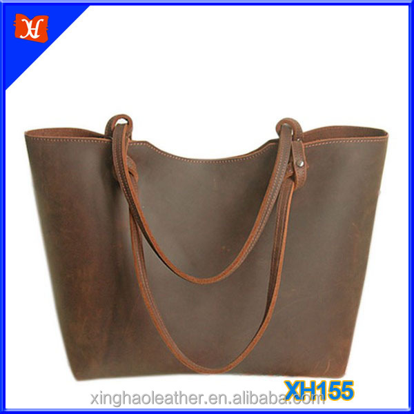 Vegetable Tanned Leather Bags Women's Handbags Tote Bag Ladies
