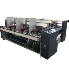 High Quality Semi Automatic Double Pieces Carton Folder Gluer Machine