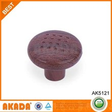 AK5121 cheap plastic material round cabinet door knobs in wooden looking