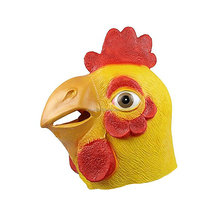 Adult Size Animal Heads Latex Cock Masks For Halloween Costume Party