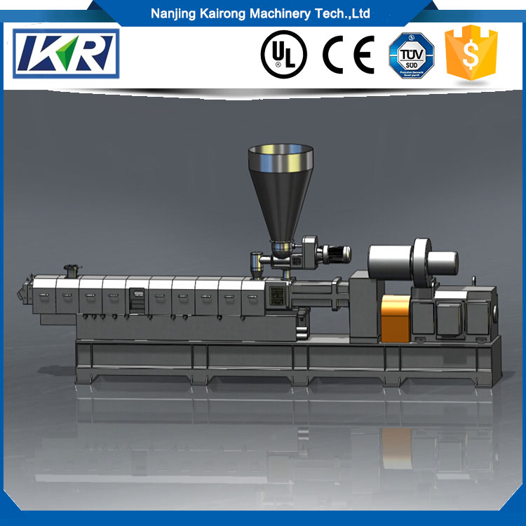 Small PU PVC TPR Sole Twin Screw Plastic Granules Making Machine/Virgin plastic Resin PVC cable Granules/Pellets for cable