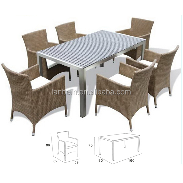 PE Rattan Patio Garden Furniture vintage french furniture DCD1001