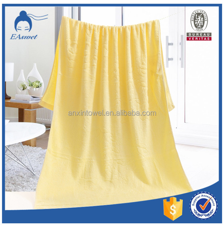 high-quality face towel and bath towel size ,bamboo material fabric bath towel