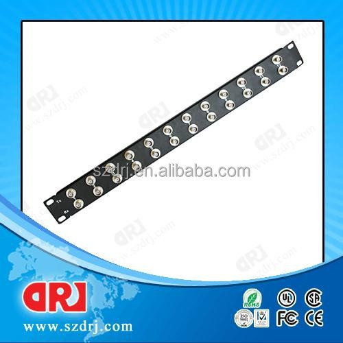 1U 24 ports bnc female to female patch panel