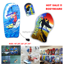 "Wholesale floating EPS core Durable and lightweight Boogie board Sport Trainer 18"" to 41"" soft Body board surfboard"