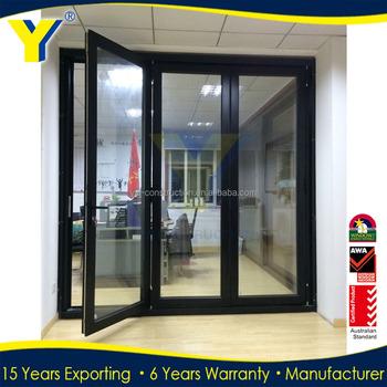 Usa Au Hot Sale Commercial Glass Exterior Folding Patio Aluminium Bi Fold Doo