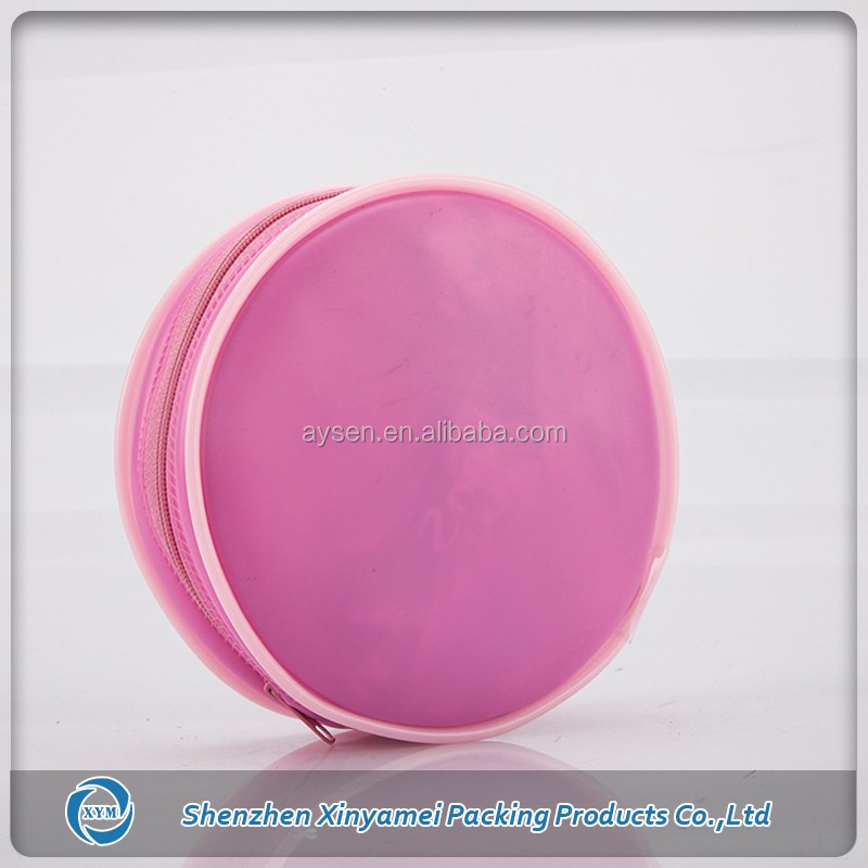 elegant style frosted cosmetic bag pvc packaging with zipper