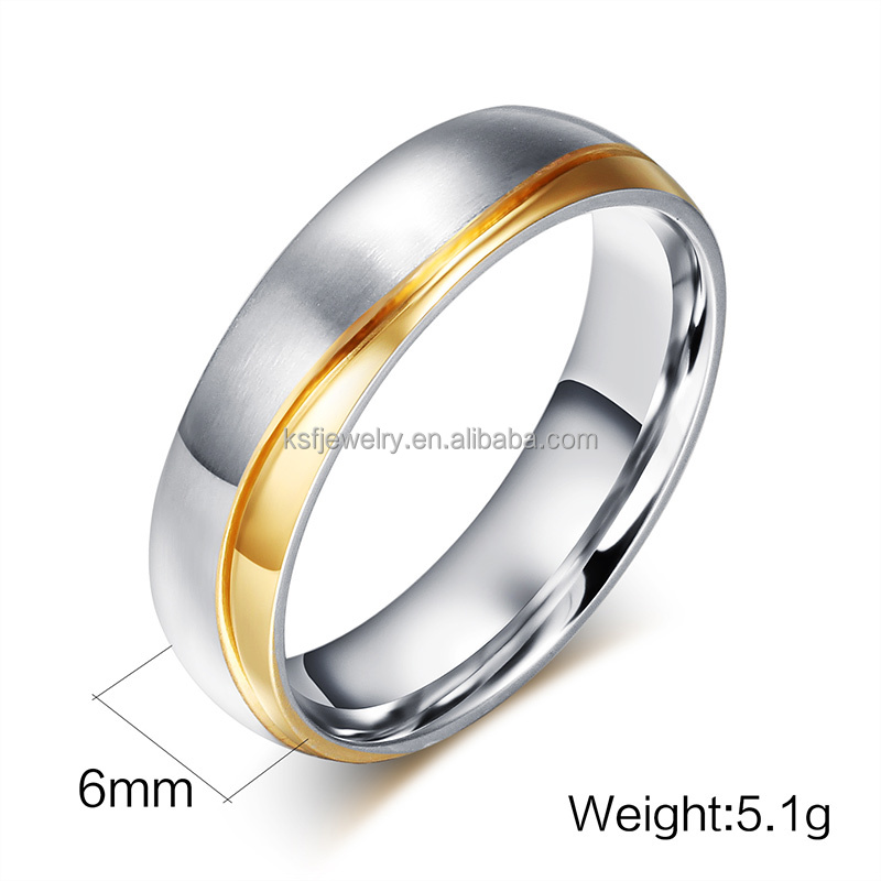 Cheap Stainless Steel 316L Simple Finger Wedding Band Ring