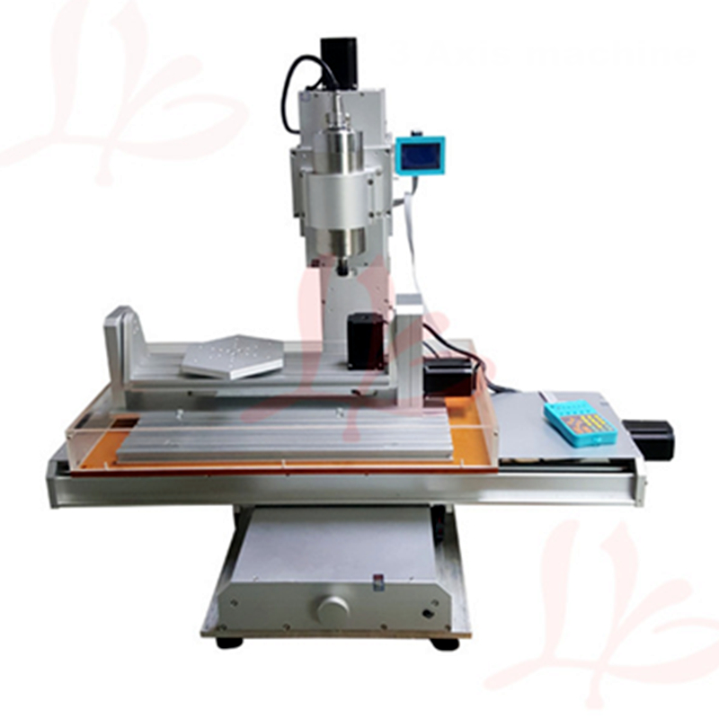 Vertical mini 5 axis cnc milling machine 3040 metal Ball Screw cnc router engraving machine 4030 1.5KW spindle