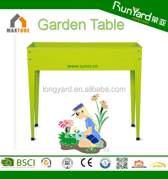 Strong and sturdy raised garden bed design with four legs