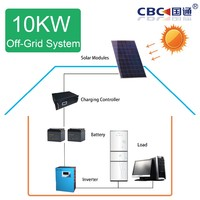 10kw household solar power generation system for home