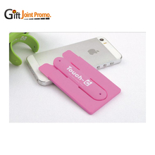 Customized 3m Sticky Silicone Mobile Phone Card Holder Stand