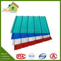 Best selling products 2 layer 100% waterproof colored apvc used corrugated roof sheet