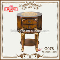 G078 Hot new and popular decoration with expensive resin production glass coffee table