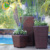 Foshan factory hot sale used square decorative bamboo home garden flower pot