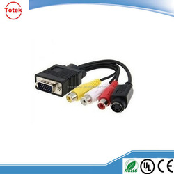 Super quality db15 video convert vga cable to rca