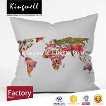 Custom designer handmade world map wholesale cushion covers for outdoor patio furniture
