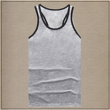 Cool Summer Men Tank Tops Boys Breathable Tees Black Vest T-Shirts