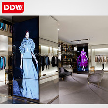 LCD vertical video wall panel for women clothing store