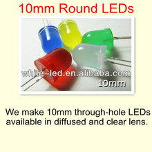 10mm diode round red green yellow led for throwies/Sombrero de paja blanco de 5mm de LED