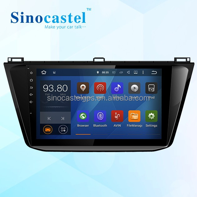 10.1 Inch VW Tiguan 2016 DVD Player GPS Navigator With Canbus Support 10Bands DSP With <strong>Natural</strong> and Realistic High-Fidelity Audio