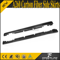 A260 Carbon Fiber Car Bumper Side Skirts for Mercedes Ben z A Class R Sport A260 2013 UP