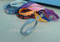 2013 manufacturer wholesale price negative ion silicone energy bracelets