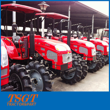 sun-shade farm wheel tractor 55hp 4wd factory supply with flat floor and paddy tyre new model most popular