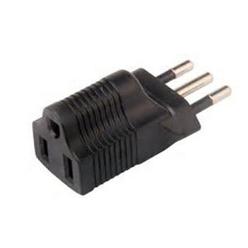 USA to Italy Plug Adapter with 250V 10A (YL-4515)